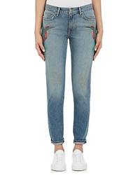 Sandrine Rose Sandrine Rose Embroidered Skinny Boyfriend Jeans