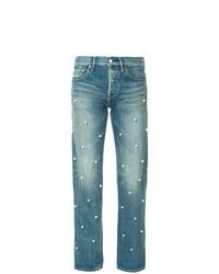 Tu Es Mon Trésor Small Pearl Dot Jeans Short Length