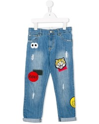 Stella McCartney Kids Dandy Badge Embroidered Jeans