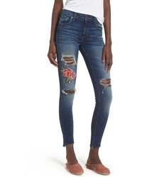 Sts blue emma rose embroidered step hem jeans medium 6368260
