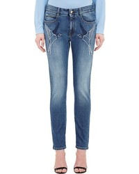 Stella McCartney Swallow Embroidered Jeans Blue