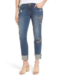 Wit wisdom flex ellent embroidered boyfriend jeans medium 6368261