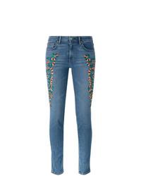 Sandrine Rose Embroidered Skinny Jeans
