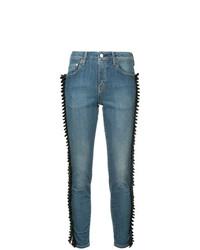 Tu Es Mon Trésor Gathered Ribbon Trim Jeans Short Length