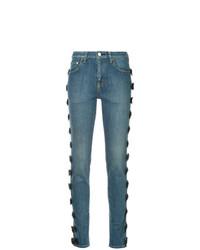 Tu Es Mon Trésor Side Ribbon Skinny Jeans