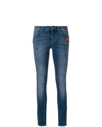 Dolce & Gabbana Skinny Jeans With Sacred Heart Patch