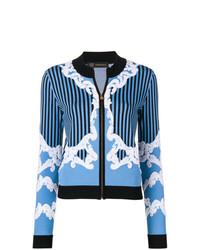Versace Embroidered Zip Cardigan