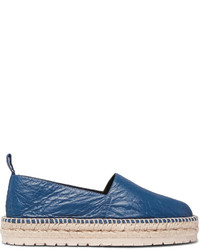 Balenciaga Creased Leather Espadrilles