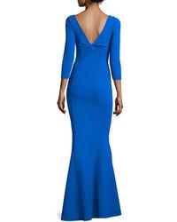 La petite robe custom collection saturnnia 34 sleeve twist front long gown medium 651617