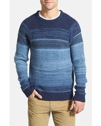 Blue Fair Isle Crew-neck Sweater