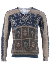 Pierre Louis Mascia Pierre Louis Mascia Fair Isle Knit Sweater
