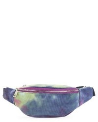 Street Level Tie Dye Belt Bag Black