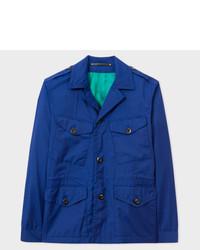 Blue loro piana storm system wool field jacket medium 5423624