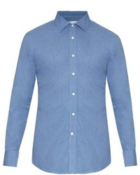 Gieves Hawkes Long Sleeved Cotton Flannel Shirt