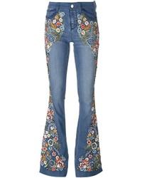 Alice + Olivia Aliceolivia Paisley Embroidered Flared Jeans