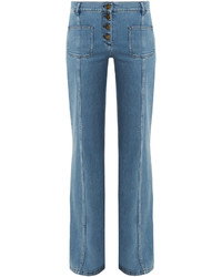 Chloé Chlo Mid Rise Flared Jeans