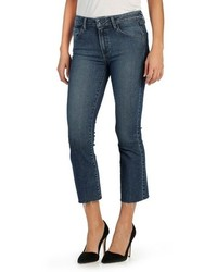 Paige Colette High Waist Raw Hem Crop Flare Jeans