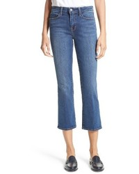 L'Agence Crop Baby Flare Jeans