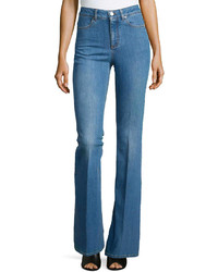 Stella McCartney Denim Flare Leg Trousers Blue