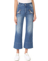 Stella McCartney Denim Flared Cropped Jeans