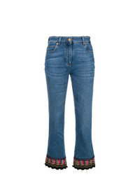 Etro Embroidered Detail Cropped Jeans
