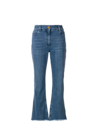 Etro Embroidered High Rise Jeans