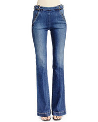 Stella McCartney Flare Leg Jeans With Side Buckles