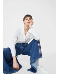 Mango Flare Stripes Jeans