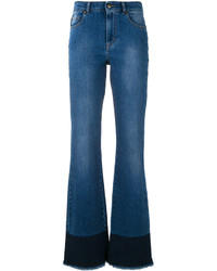 RED Valentino Frayed Bootcut Jeans