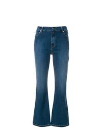 Vivetta Heart Embellished Kick Flare Jeans