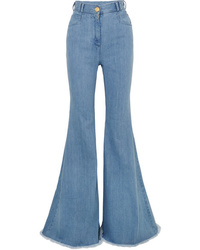 Balmain High Rise Flared Jeans