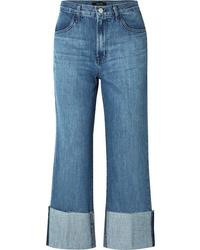 J Brand Joan Cropped High Rise Flared Jeans