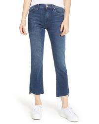 MOTHE R The Insider High Waist Crop Step Hem Bootcut Jeans