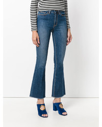 Tory Burch Ryan Frayed Flare Jeans