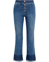 See by Chloe See By Chlo Cropped Mid Rise Flared Jeans Mid Denim