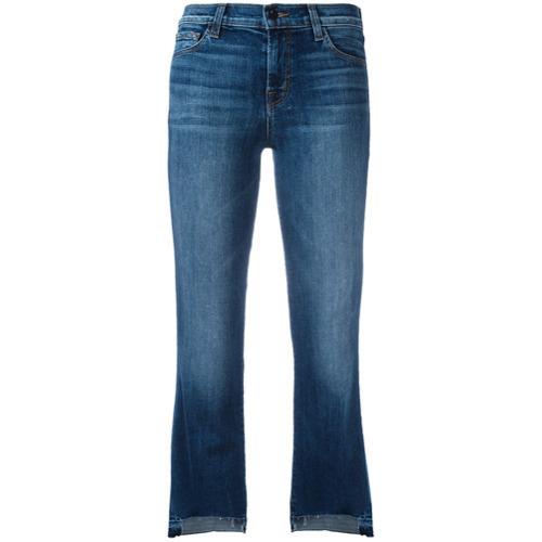J Brand Step Hem Cropped Jeans