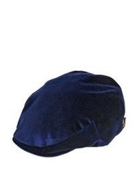 Borsalino Cotton Velvet Flat Cap