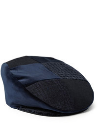 Etro Patchwork Velvet And Cotton Blend Flat Cap