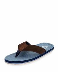 Original Penguin Brian Suede Thong Sandal Blue