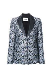 MSGM Metallic Floral Jacquard Dinner Jacket
