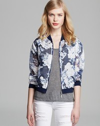 Lucy paris jacket floral organza bomber medium 42483