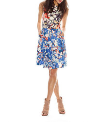 Donna Morgan Floral Fit And Flare Dress