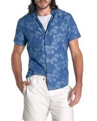 Rodd & Gunn New Chums Beach Floral Short Sleeve Chambray Button Up Shirt