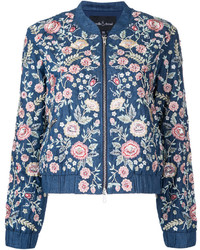 Floral bomber jacket medium 4979047