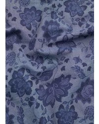 Mango Outlet Floral Print Chambray Scarf
