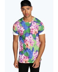 Boohoo All Over Floral Sublimation T Shirt