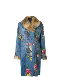 Kenzo Vintage Floral Denim Coat