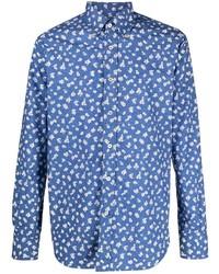Canali Floral Button Down Shirt