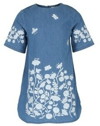 Stella McCartney Kids Floral Embroidered Dress