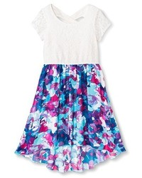 Lots Of Love By Speechless Girls Lots Of Love By Speechless Floral High Low Dress Blue